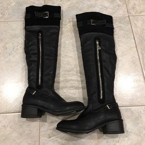 Sexy Black Over The Knee Boot Size 6.5. PRICE FIRM
